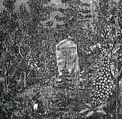 John Bell graveyard near Adams, Tennessee