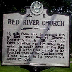 Red River Baptist Church Historical Marker, Adams, Tennessee